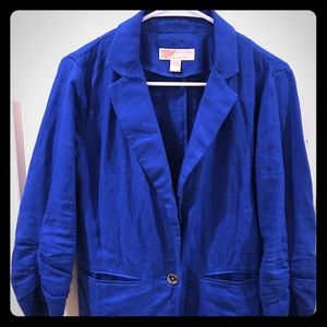 Michael Kors sapphire blue linen blazer so 6